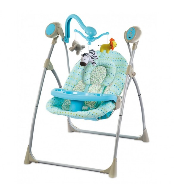 Крісло гойдалка Baby Mix SW102 RC Blue