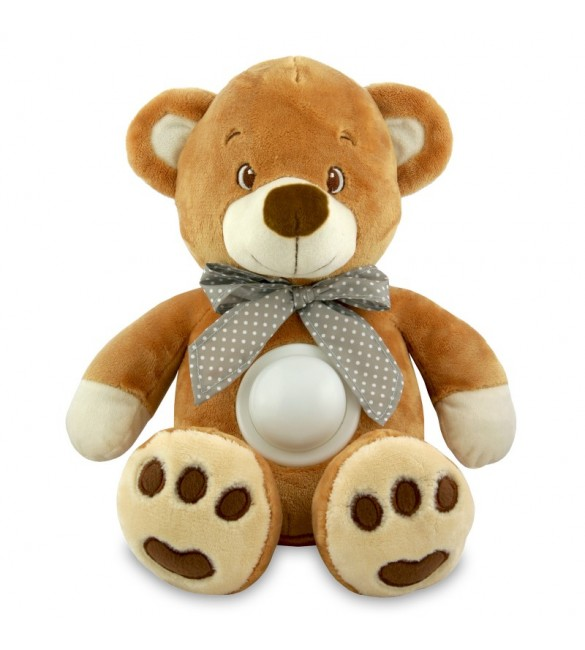 Проектор музичний Baby Mix Ведмідь Puff bear STK-13138 brown