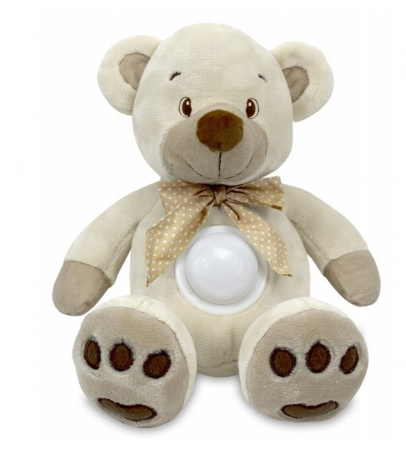 Проектор музичний Baby Mix Ведмідь Puff bear STK-13138 cream