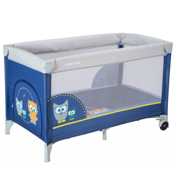 Манеж ліжко Baby Mix Sowa HR-8052 173 dark blue